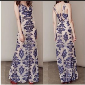BNWT! Embroidered 2Piece Top & Maxi Skirt